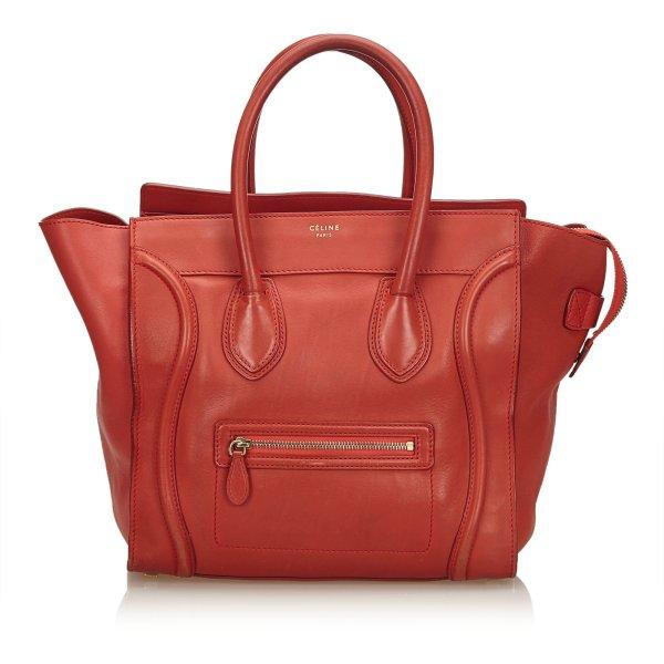 Celine Leather Luggage Tote