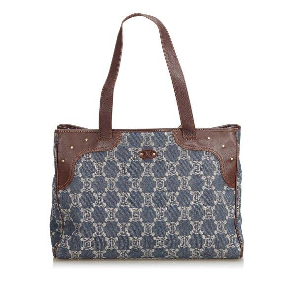 Celine Macadam Denim Tote Bag