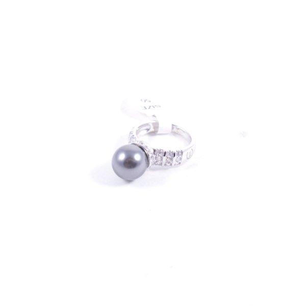 Cerruti Silberring mit Perle und kleine Steinchen