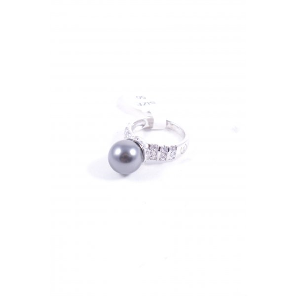 Cerruti Silberring silberfarben-grau Elegant
