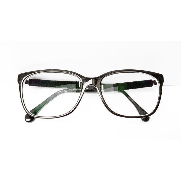 Chanel 3262 c.1443 Schwarz Samt Brille Korrektionsbrille