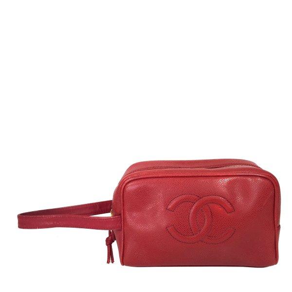 Chanel Cosmeticabox veelkleurig Leer