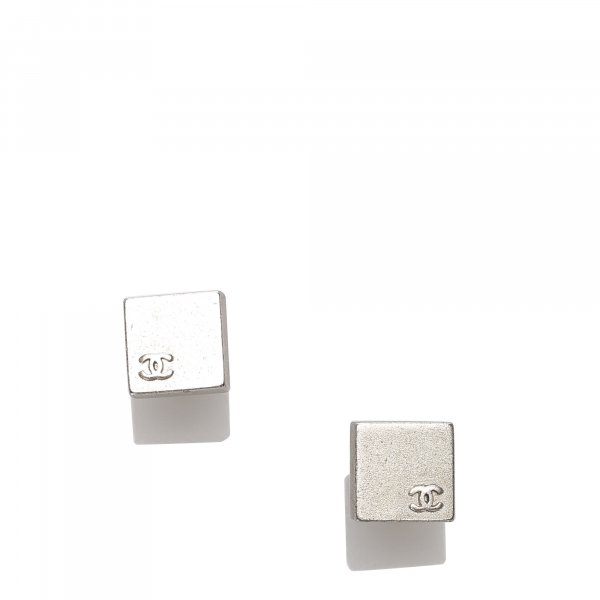 Chanel CC Square Push Back Earrings
