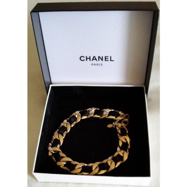 CHANEL Collier Gold und schwarz