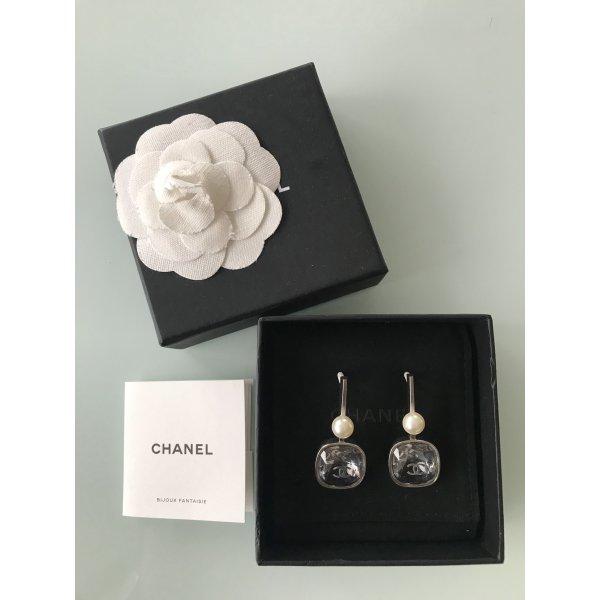 Chanel Pendant d'oreille argenté argent