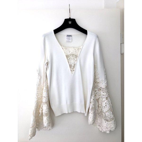 Chanel Pullover mit Spitze