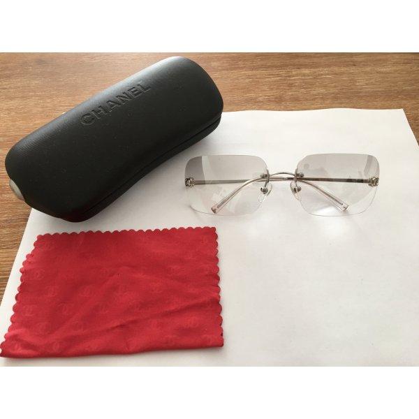 Chanel Sonnenbrille weiße Gläser trotzdem UV undurchlässig