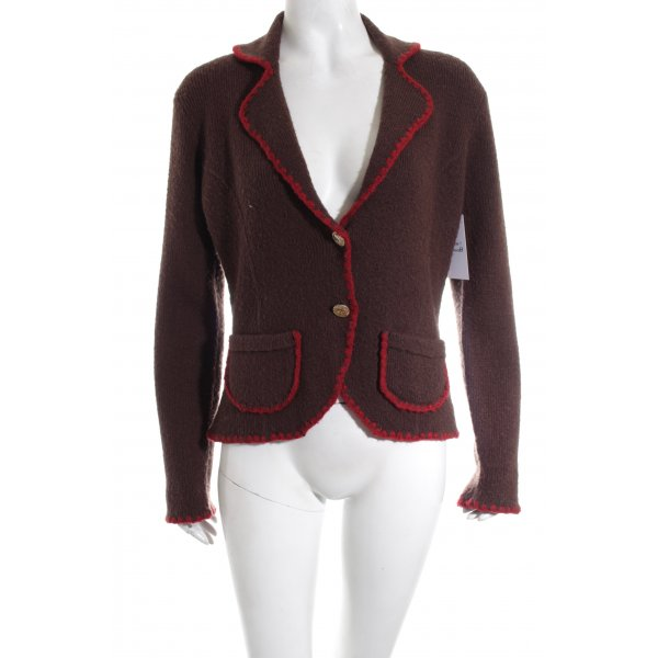 Chanel Woll-Blazer braun Casual-Look