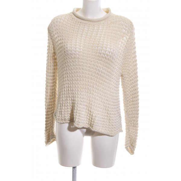 Charisma Grobstrickpullover wollweiß grafisches Muster Casual-Look