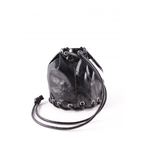 Cheap Monday Beuteltasche schwarz Lack-Optik
