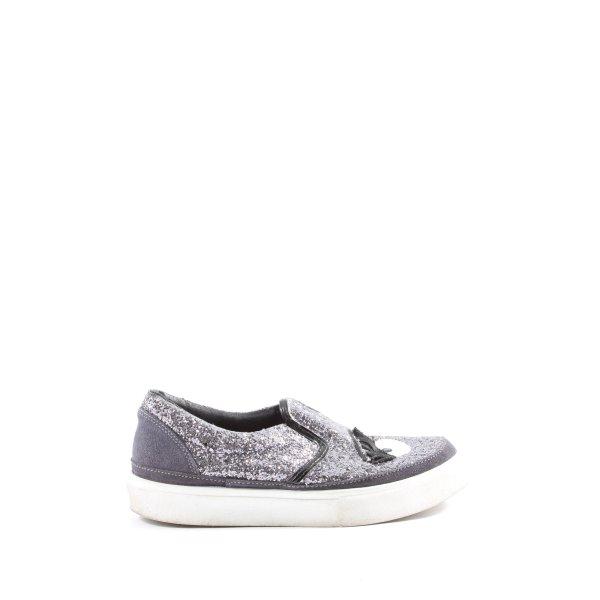 Chiara Ferragni Wedge Sneaker hellgrau Casual-Look