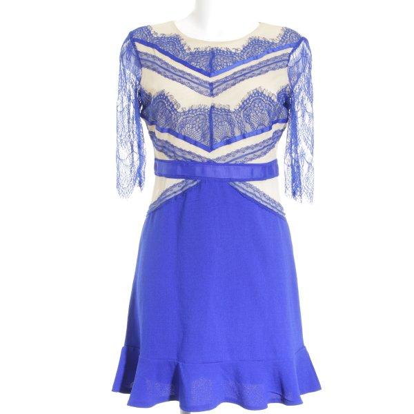 Chicwish Volantkleid blau-nude Elegant
