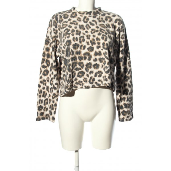 Chiquelle Rundhalspullover Animalmuster Casual-Look