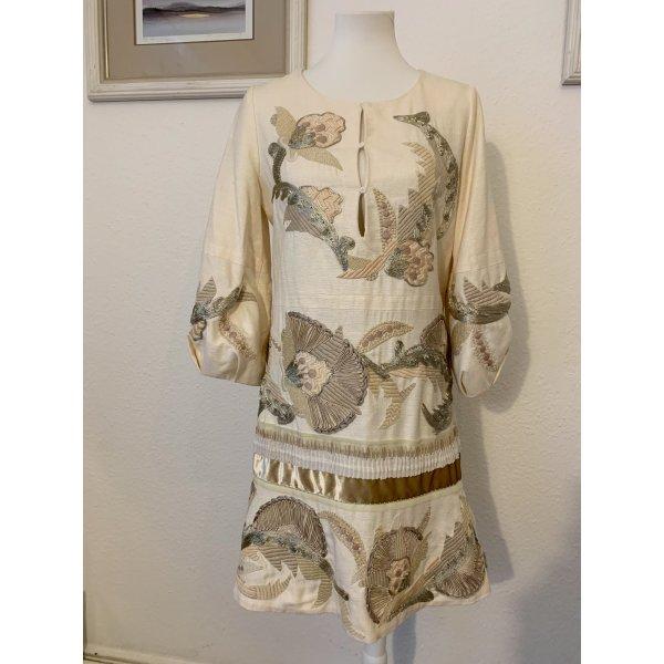 Chloé Seidenkleid mit aufwendigen Stickereien