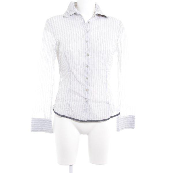 Cinque Langarm-Bluse weiß-schwarz Nadelstreifen Business-Look