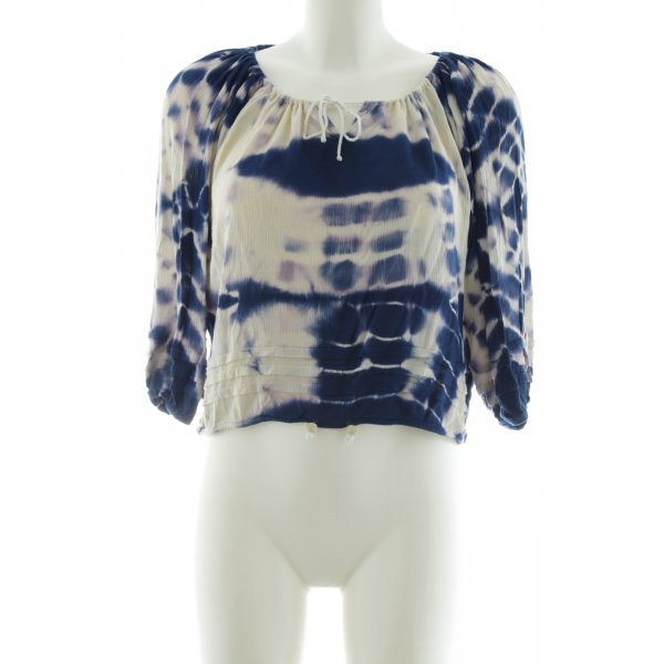 Circle of Trust Tunic Blouse blue allover print casual look