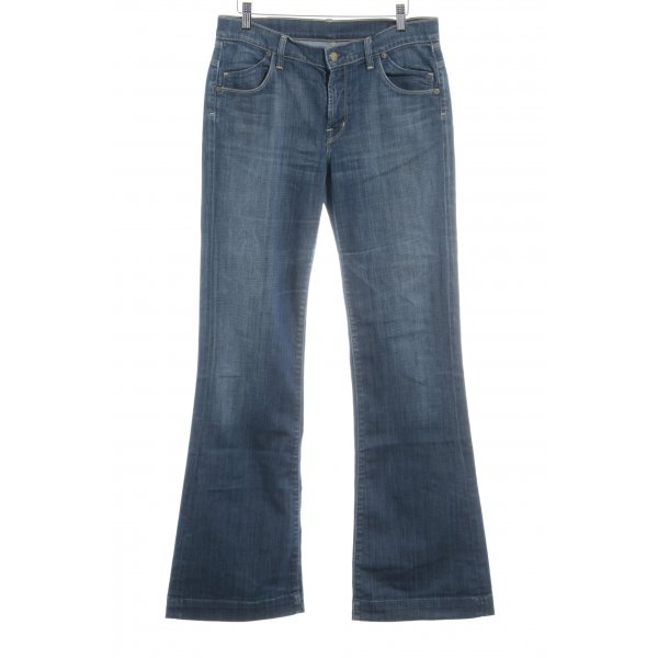 Citizens of Humanity Boot Cut Jeans stahlblau schlichter Stil