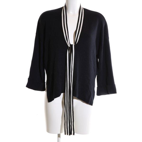 Claudie Pierlot Strick Cardigan schwarz-weiß Streifenmuster Business-Look