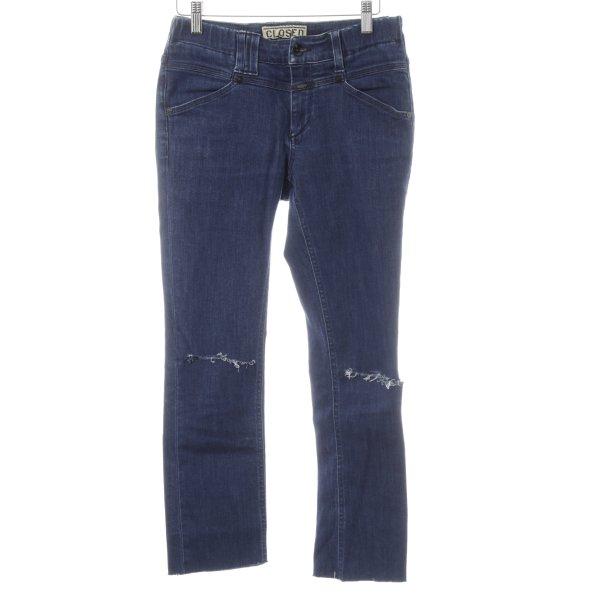 Closed Slim Jeans dunkelblau Street-Fashion-Look