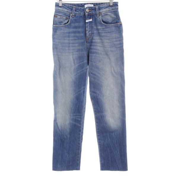 Closed Straight-Leg Jeans kornblumenblau-himmelblau 90ies-Stil