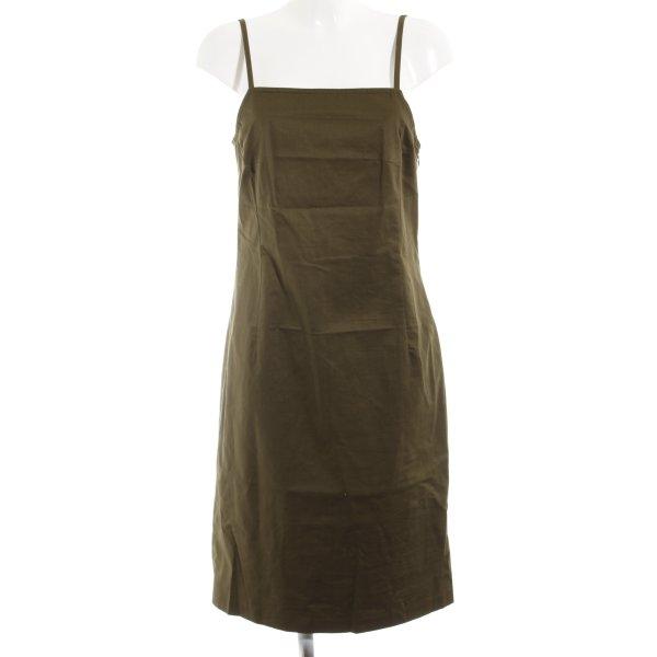 Club Monaco Trägerkleid olivgrün Street-Fashion-Look