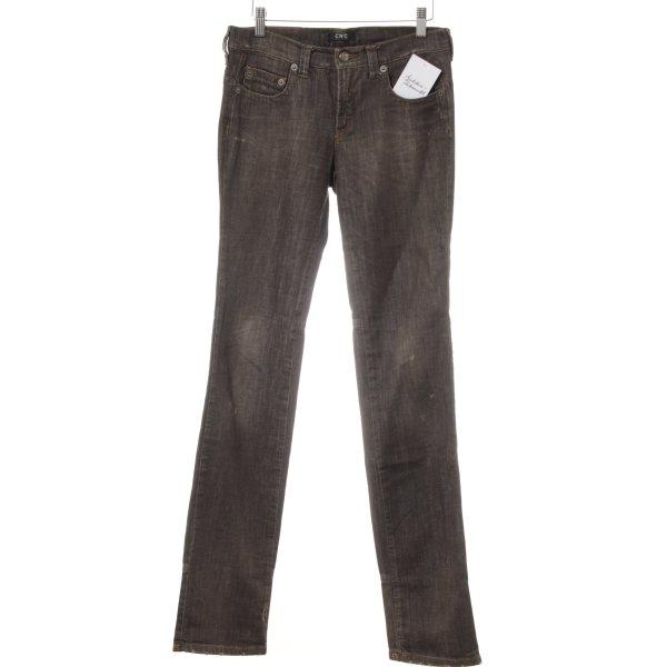 CNC Straight-Leg Jeans graubraun Casual-Look
