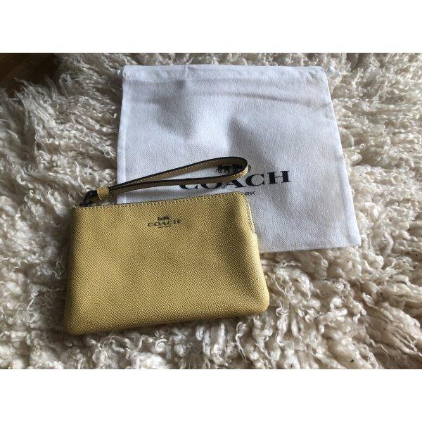 COACH Geldbörse Portemonnaie Clutch F58032 Gelb Leder NEU