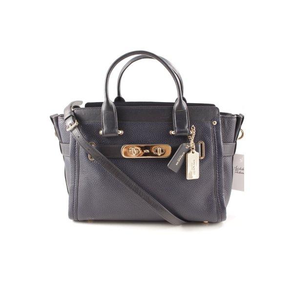 Coach Carry Bag dark blue elegant