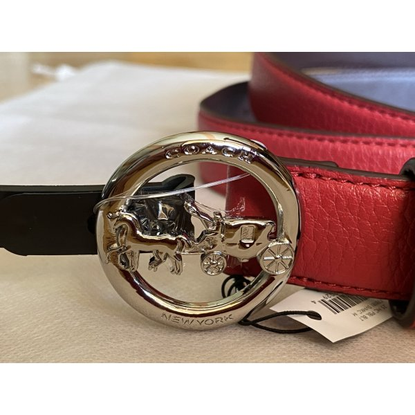 Coach Horse and Carriage Belt Red Size M