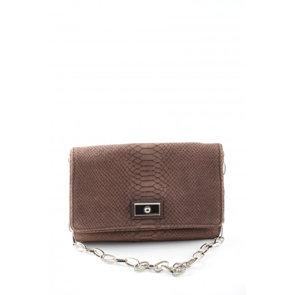 Coccinelle Clutch braun Animalmuster Casual-Look