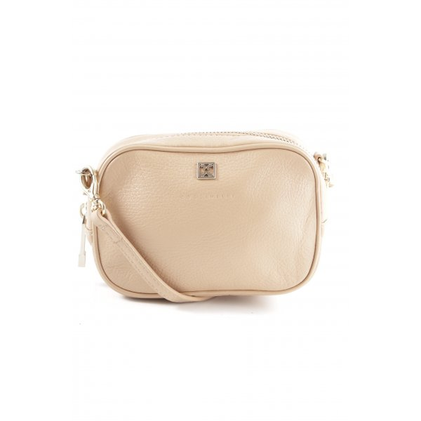 Coccinelle Schultertasche creme Business-Look