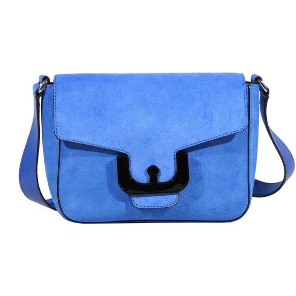 Coccinelle Umhängetasche in Blau aus Leder
