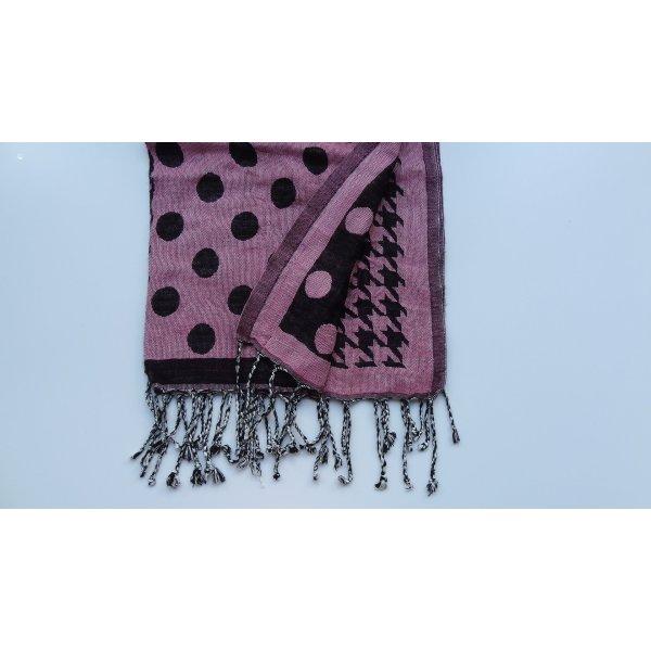 Codello-Schal rosa-schwarz gemustert