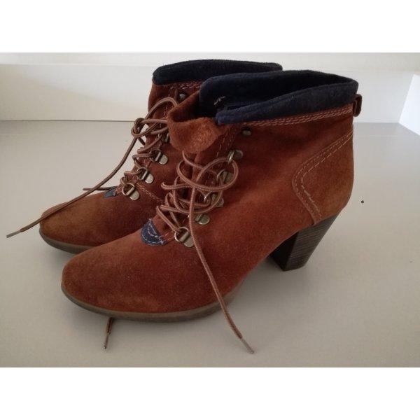 cognac- braune halbstiefel von street shoes Gr. 38 ungetragen