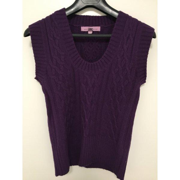 Collezione Cardigan en maille fine violet foncé