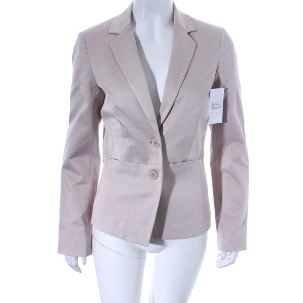 Comma Blazer beige-weiß Business-Look