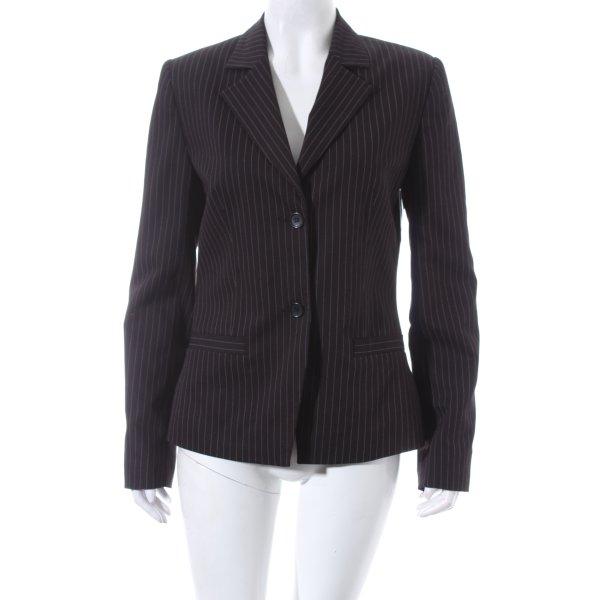 Comma Blazer schwarz-weiß Nadelstreifen Business-Look