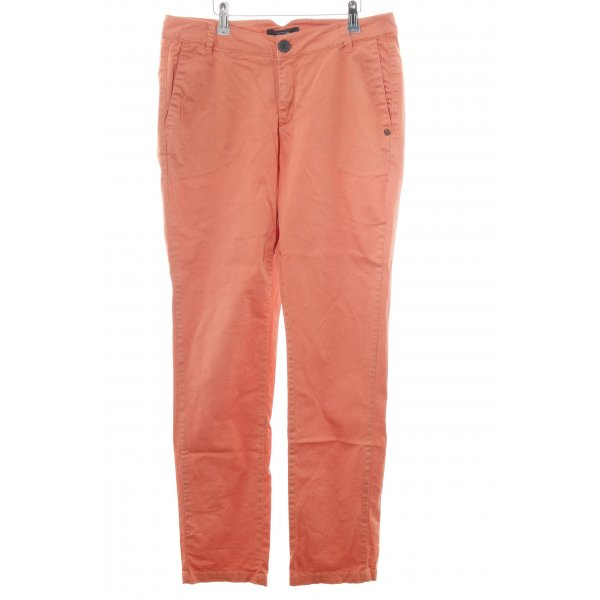 Comma Chinohose hellorange Allover-Druck Casual-Look
