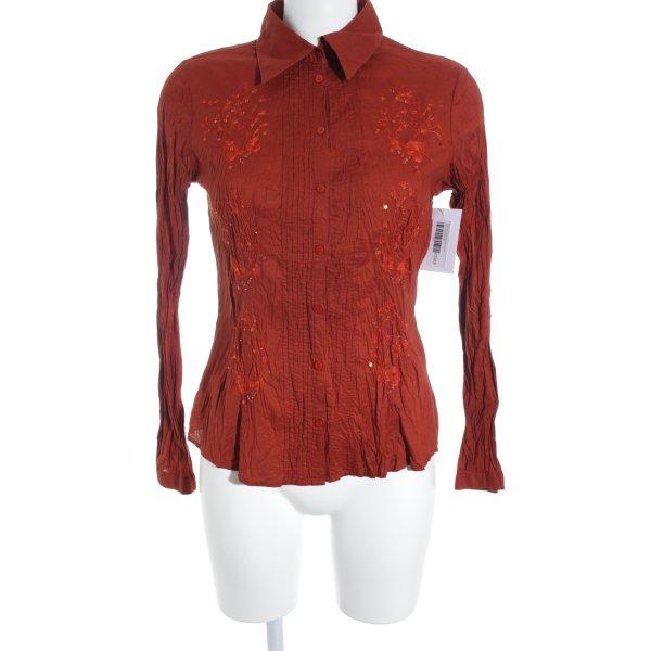 Comma Hemd-Bluse rostrot extravaganter Stil