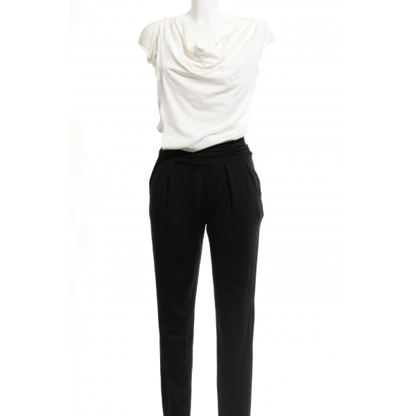 Comma Jumpsuit black-white Brit look