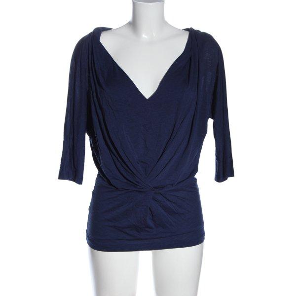 Comptoir des Cotonniers Kimono-Bluse blau Business-Look