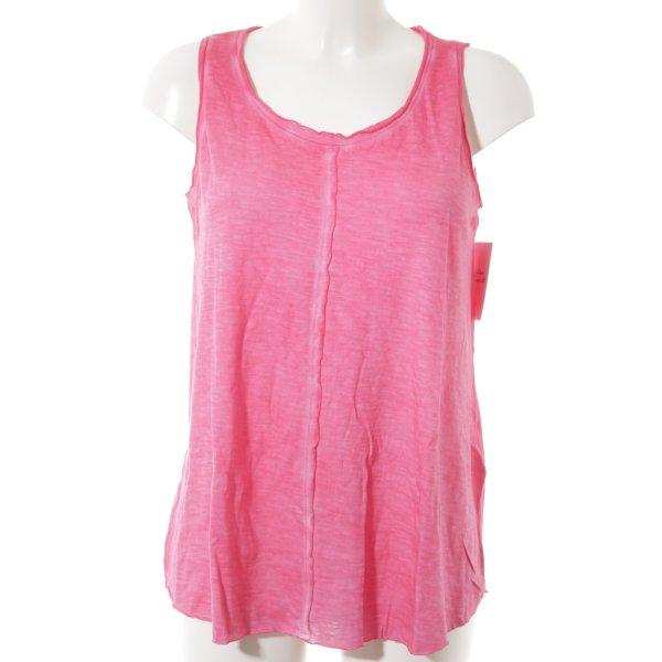 Conleys Batik shirt magenta-neonroos batik patroon casual uitstraling