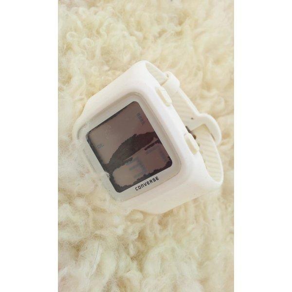 Converse Armband-Uhr aus Silikon, Weiß, mit Defekt!