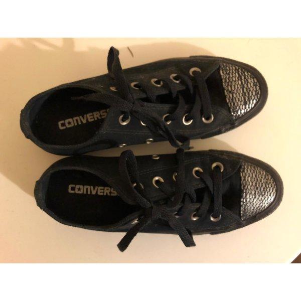 Converse Sneaker Gr. 36 schwarz/silber