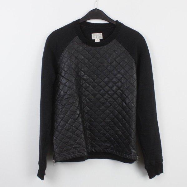 CONVERSE Sweatshirt Gr. S schwarz Kunstlederbesatz (18/9/531/K)