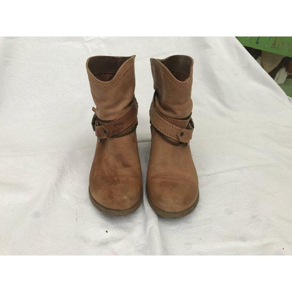Coole Echtleder Boots braun