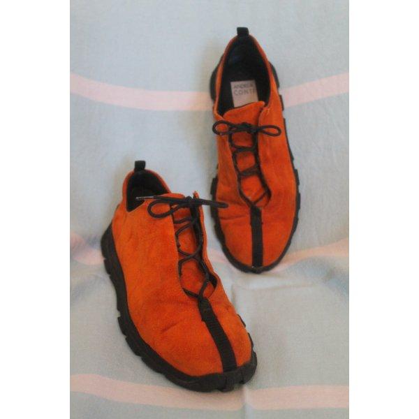 Andrea Conti Sneakers donker oranje-zwart