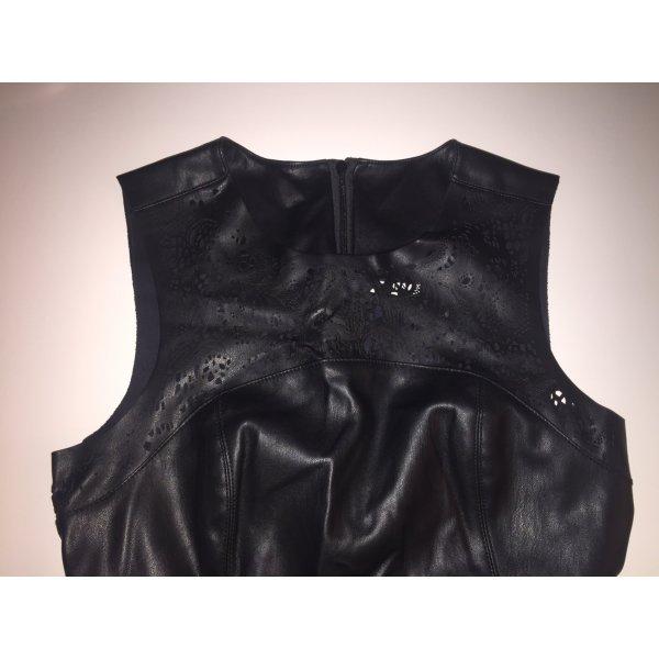 Cooles schwarzes Lederkleid