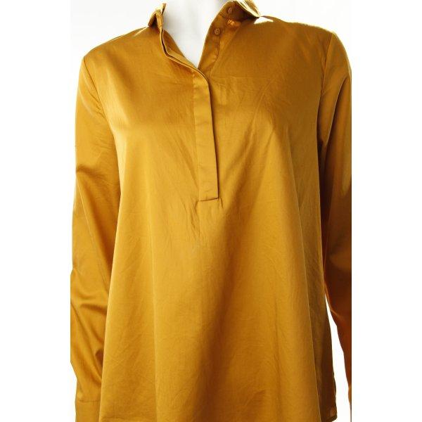 COS Empiècement de blouses jaune foncé style décontracté