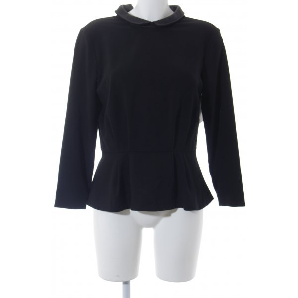 COS Langarm-Bluse schwarz Elegant